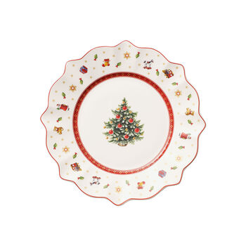 Toy's Delight white breakfast plate