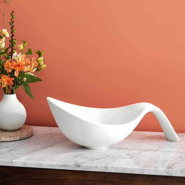 Flow bowl with handle, , large