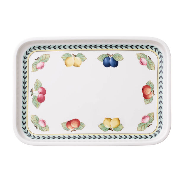 French Garden baking dishes Serving dish / Rectangular Cover 32x22cm, , large