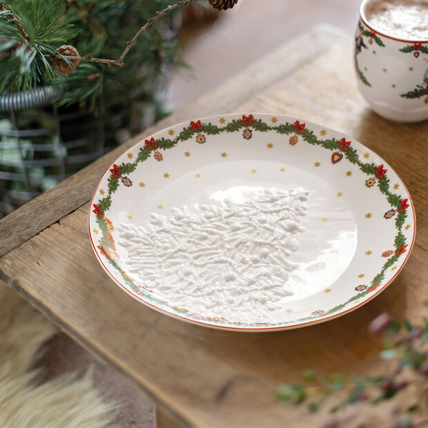 Toy's Fantasy Bowl with snowman relief 26x24,5x4,4cm, , large