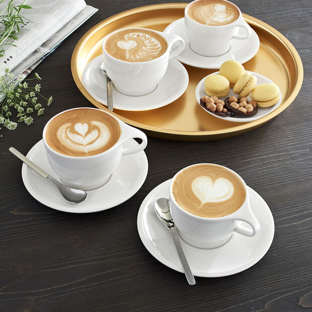 Coffee Passion White coffee cup & saucer 2pcs, , large