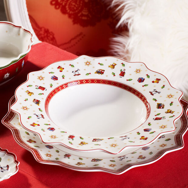 Toy's Delight white dinner plate, , large