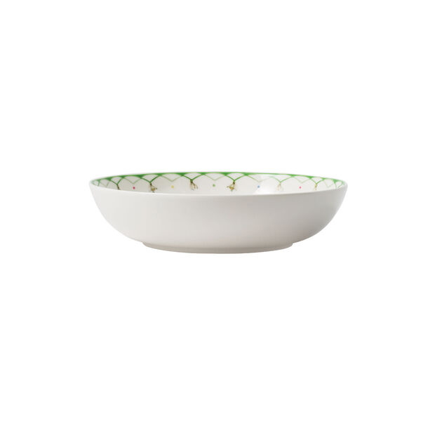 Colourful Spring salad plate, 720 ml, white/green, , large