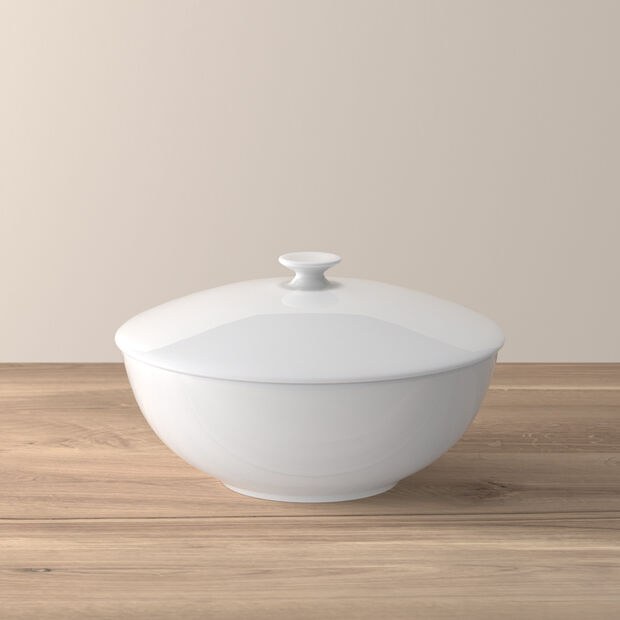 Royal bowl with lid, , large