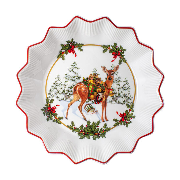 Toy's Fantasy small bowl fawn with gifts, multicoloured/red/white, 16.5 x 16.5 x 3 cm, , large