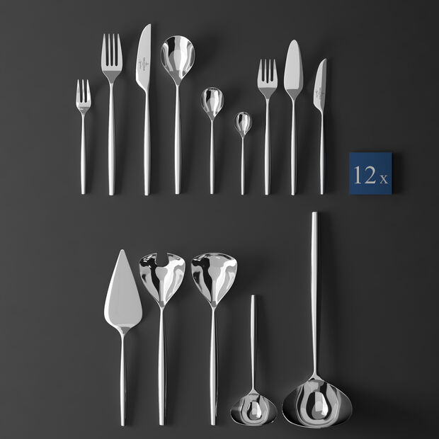 MetroChic cutlery, 113 pieces, Lunch, , large