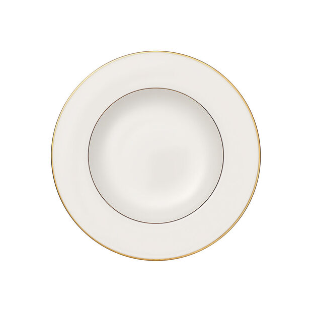 Anmut Gold soup plate, 24 cm diameter, white/gold, , large