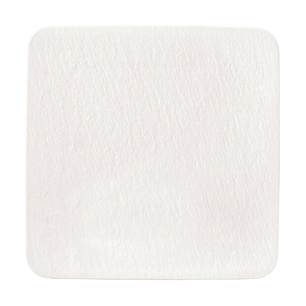 Manufacture Rock Blanc square serving/gourmet plate, white, 32.5 x 32.5 x 1.5 cm, , large