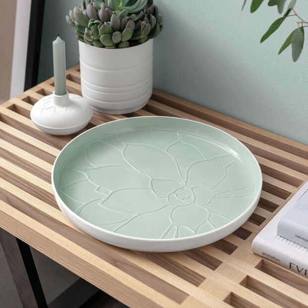 it's my home tray Socculent, 34 cm, green/white, , large