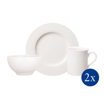 Twist White breakfast set for two 6 pieces