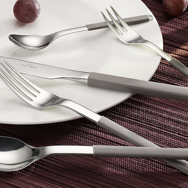 S+ Taupe cutlery set 24 pieces, , large