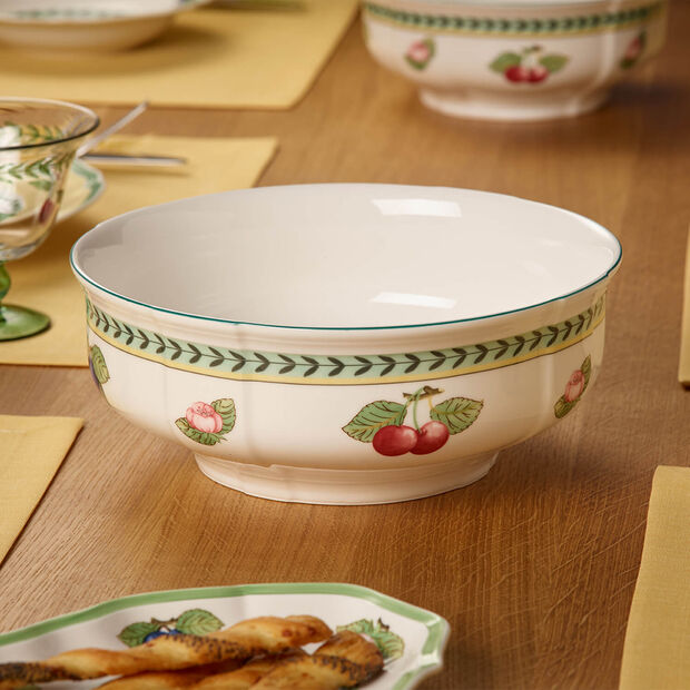 French Garden Fleurence round salad bowl, , large