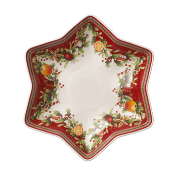 Winter Bakery Delight star footed bowl
