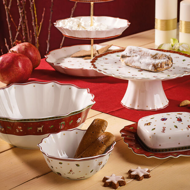 Toy's Delight small footed cake plate, , large