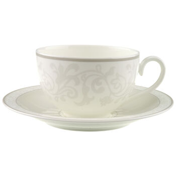 Gray Pearl Breakfast cup & saucer 2pcs