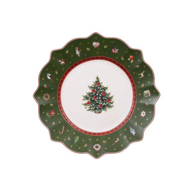 Toy's Delight green breakfast plate, , large