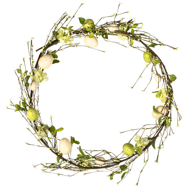 Spring Fantasy Accessories Egg wreath 42cm, , large