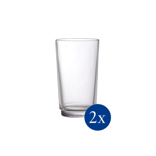 like.by Villeroy & Boch it's my match long drink glass set, clear, 8 x 14 cm, 2 pieces, , large
