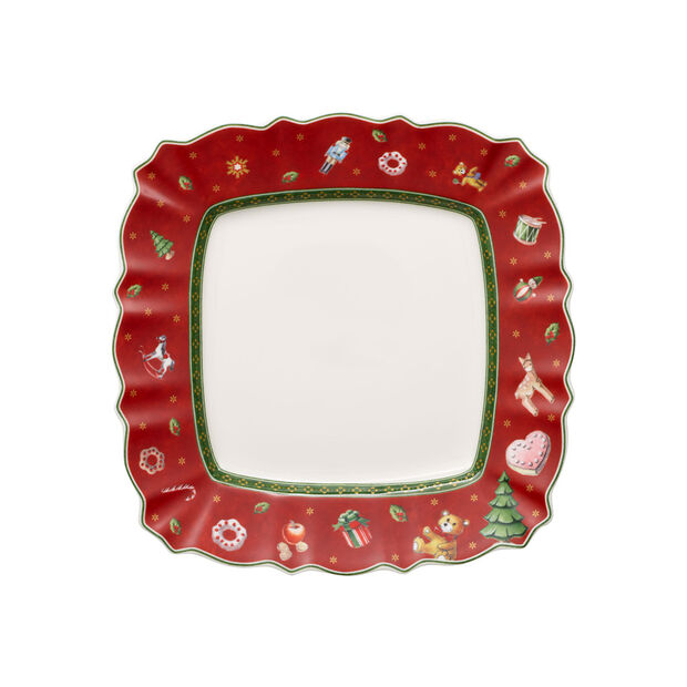 Toy's Delight square breakfast plate, red/multicoloured, 24 x 24 cm, , large
