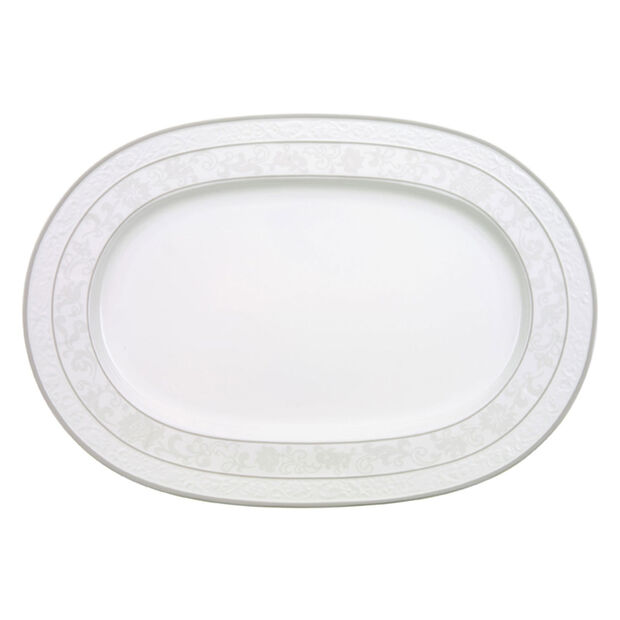 Gray Pearl oval plate 41 cm, , large