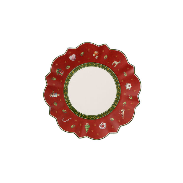 Toy's Delight red bread plate, , large