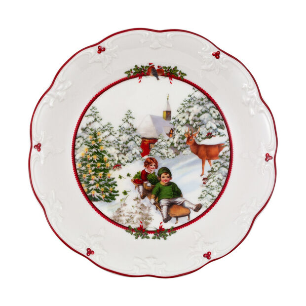 Toy's Fantasy large bowl sleigh ride, multicoloured/red/white, 24.5 x 24.5 x 4 cm, , large