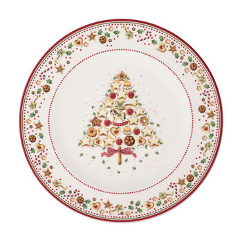 Winter Bakery Delight underplate, red/multicoloured