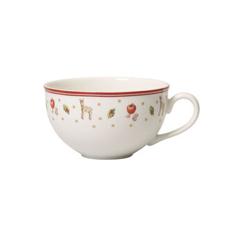 Toy's Delight white coffee cup