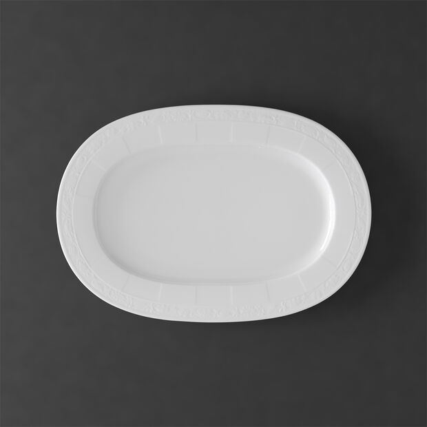White Pearl oval plate 41 cm, , large