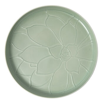 it's my home tray Socculent, 34 cm, green/white