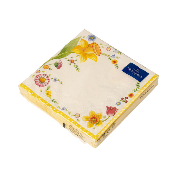 Easter Accessoires Spring Fanatasy L-Napkin Easter Flowers, 20 pieces, 33x33cm, , large