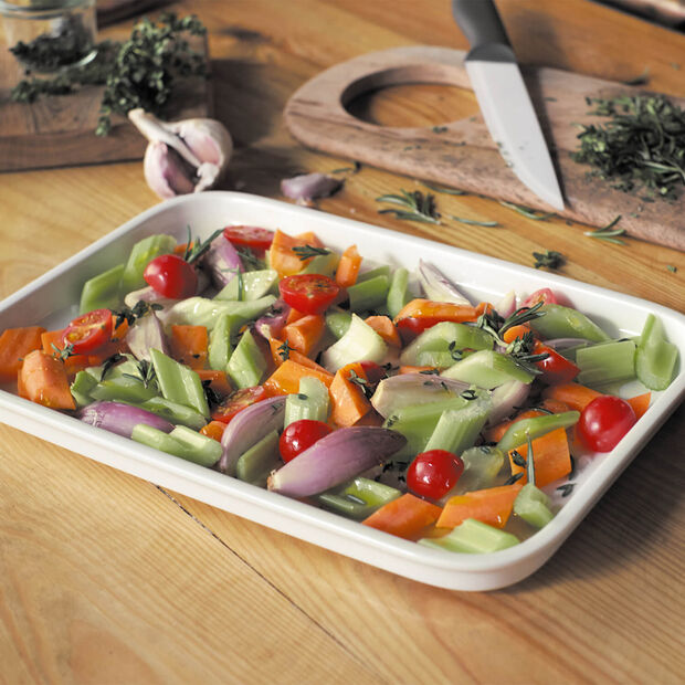 Clever Cooking rectangular serving plate 32 x 22 cm, , large