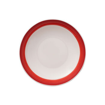 Colourful Life Deep Red flat bowl