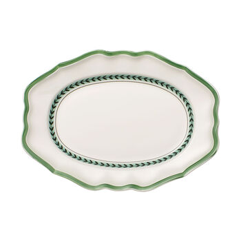 French Garden Green Line oval plate