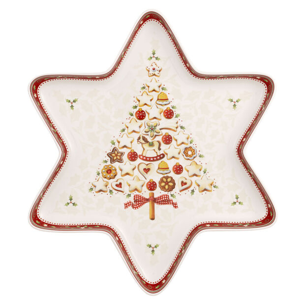 Winter Bakery Delight large star bowl, , large