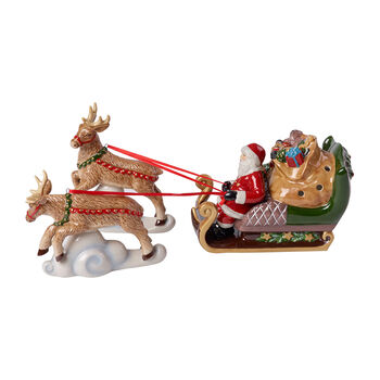 Christmas Toy's North Pole Express sleigh, multicoloured, 36 x 14 x 17 cm