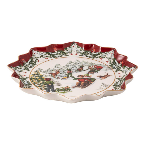 Toy's Fantasy deep biscuit plate sleigh ride, multicoloured/red/white, 39 x 39 x 3.5 cm, , large