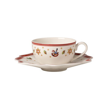 Toy's Delight Coffee/tea cup & saucer white 2pcs