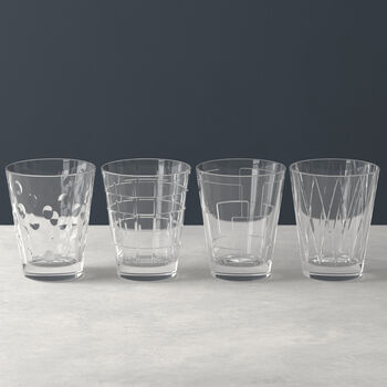 Dressed Up water glass 4-piece set Clear
