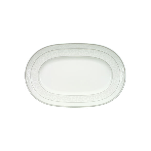 Gray Pearl Pickle Dish/Saucer sauceboat 22cm, , large