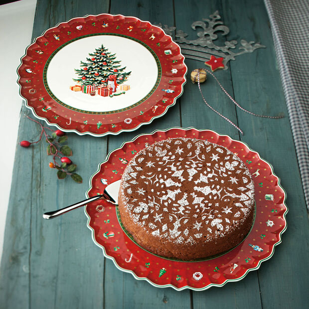 Toy's Delight round cake plate, , large