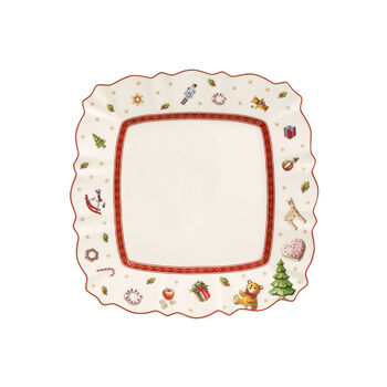 Toy's Delight square breakfast plate