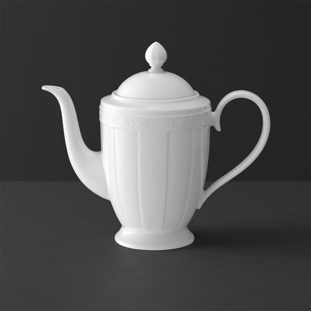 White Pearl coffee pot 6 people, , large