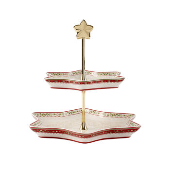 Winter Bakery Delight holly cake stand