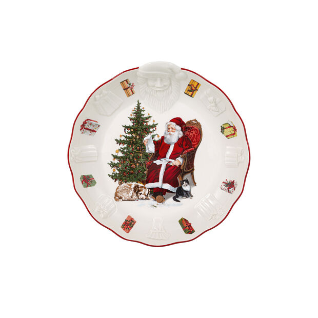 Toy's Fantasy Bowl with Santa relief, 24x25x4,6cm, , large