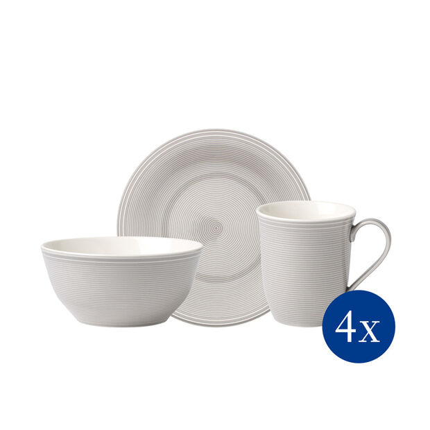 Color Loop Stone breakfast set, stone, 12 pieces, , large