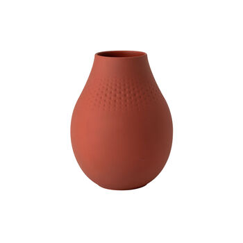 Manufacture Collier terre tall vase, Perle, 16 x 16 x 20 cm