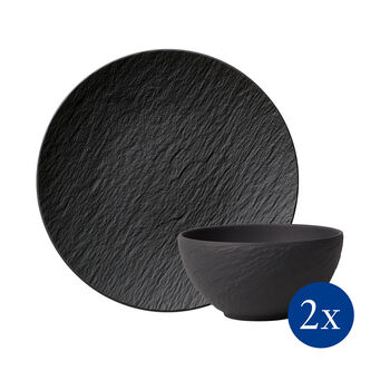 Manufacture Rock tableware set, 4 pieces, for 2 people