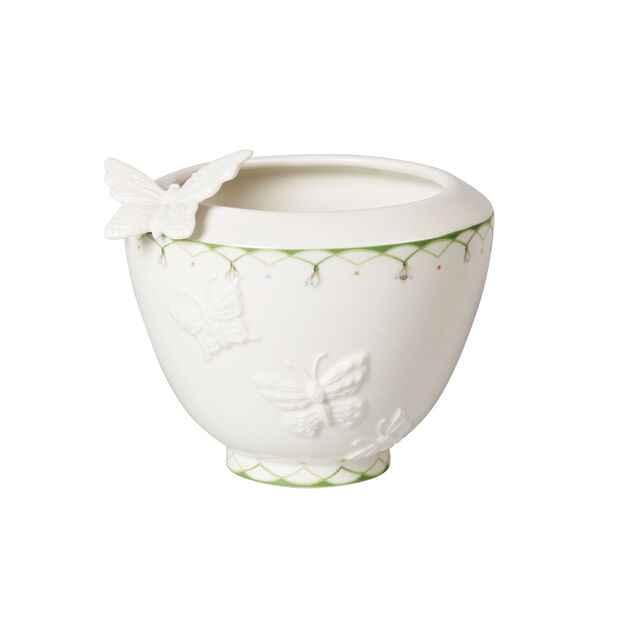 Colourful Spring small vase, white/green, , large