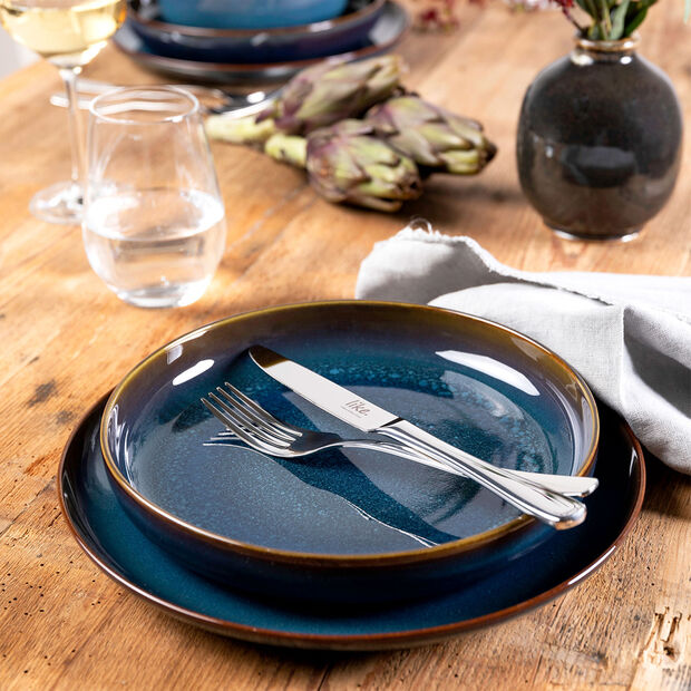 Crafted Denim breakfast plate, blue, 21 cm, , large